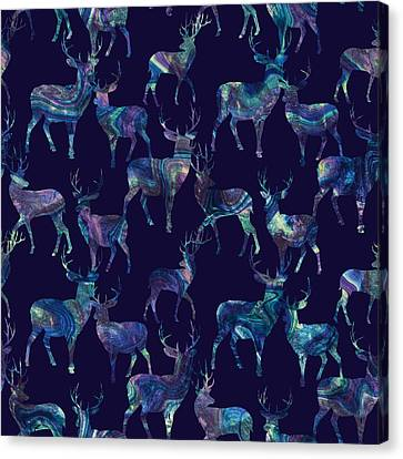 Marble Deer Canvas Print by Varpu Kronholm