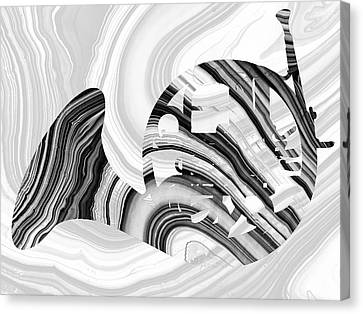 Marbled Music Art - French Horn - Sharon Cummings Canvas Print by Sharon Cummings