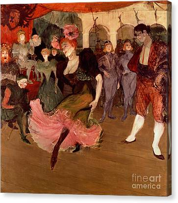 Marcelle Lender Dancing The Bolero In Chilperic Canvas Print by Henri de Toulouse Lautrec
