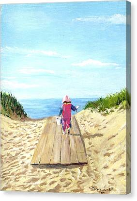 March To The Beach Canvas Print by Jack Skinner