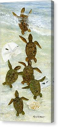 March To The Sea Canvas Print by Kevin Brant