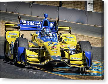 Marco Andretti Canvas Print by Webb Canepa