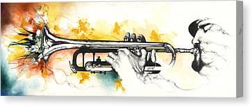 Mardi Gras Canvas Print by Anthony Burks Sr