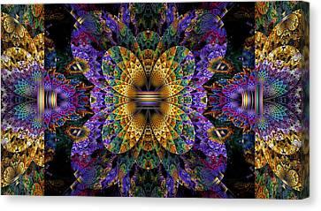 Mardi Gras Split Crop Canvas Print by Peggi Wolfe
