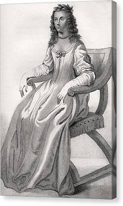 Margaret Cavendish Nee Lucas Duchess Of Canvas Print by Vintage Design Pics