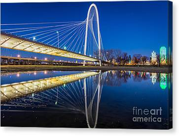 Margaret Hunt Hill Bridge Reflection Canvas Print by Inge Johnsson