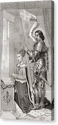Margaret Of Denmark With St. Canute Canvas Print by Vintage Design Pics