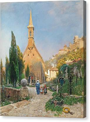 Margarets Chapel In St Peters Cemetery Canvas Print by Hans Wilt
