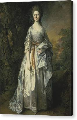 Maria Lady Eardley, 1766 Canvas Print by Thomas Gainsborough