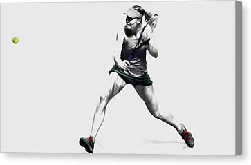 Maria Sharapova 3y Canvas Print by Brian Reaves