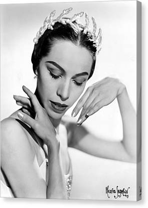 Maria Tallchief, Ballerina Canvas Print by Everett