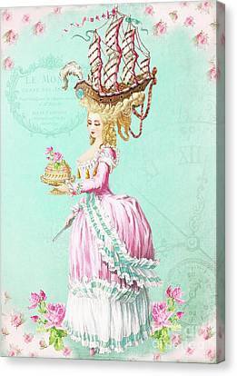Marie Antoinette Let Them Eat Cake Canvas Print by Wendy Paula Patterson