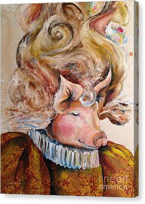 Marie Pigtoinette Canvas Print by Christy  Freeman
