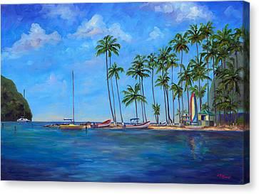 Marigot Bay St. Lucia Canvas Print by Jeff Pittman