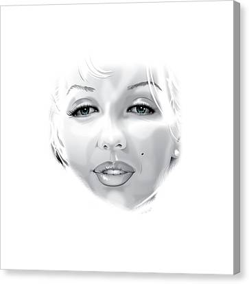 Marilyn Canvas Print by Brian Gibbs