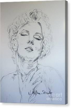Marilyn, Feelings Canvas Print by N Willson-Strader