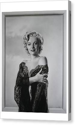 Marilyn In Lace Canvas Print by Terry Stephens