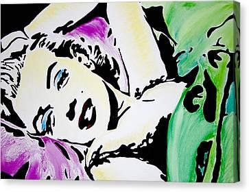 Marilyn Monroe Canvas Print by Brittany Prichard