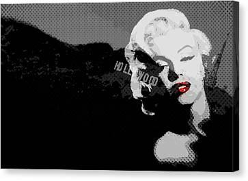 Marilyn Monroe Hollywood Star Canvas Print by Brad Scott
