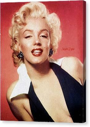 Marilyn Monroe - Oil Style Canvas Print by Leonardo Digenio