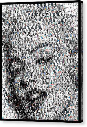Marilyn Monroe Mosaic Canvas Print by Paul Van Scott
