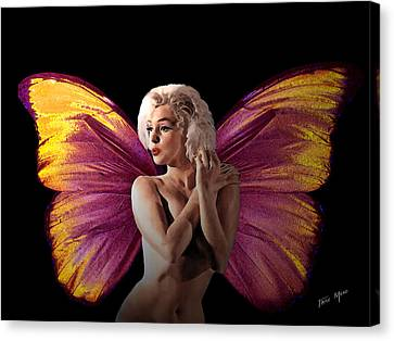 Marilyn Monroe The Fairy Canvas Print by Tray Mead