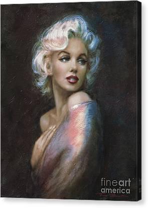 Marilyn Romantic Ww 4 Blue Canvas Print by Theo Danella