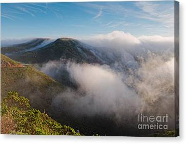 Marin Headlands Fog Rising - Sausalito Marin County California Canvas Print by Silvio Ligutti