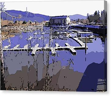 Marina In Spring Canvas Print by Robert Bissett