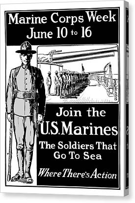 Marine Corps Week - Ww1  Canvas Print by War Is Hell Store