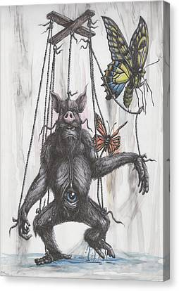 Marionette Monarchy Canvas Print by Tai Taeoalii