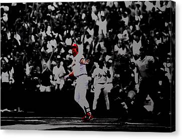 Mark Mcgwire Its Outta Here Canvas Print by Brian Reaves