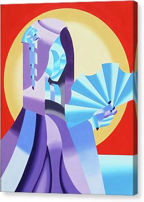 Mark Webster - Abstract Futurist Geisha Canvas Print by Mark Webster