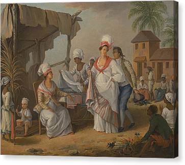 Market Day, Roseau, Dominica Canvas Print by Agostino Brunias