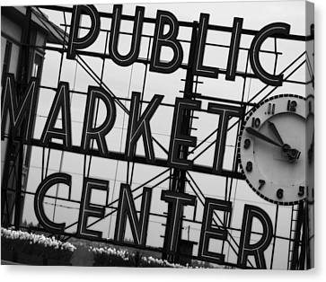 Market Canvas Print by John Gusky
