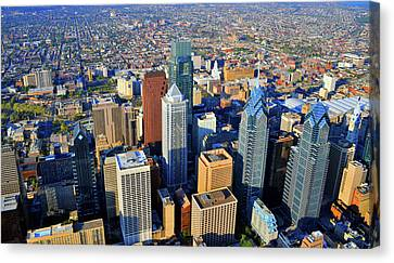 Market West Center City Philadelphia Pennsylvania 19103 Canvas Print by Duncan Pearson