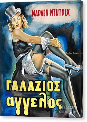 Marlen Dietrich - Der Blaue Engel 1930 Canvas Print by Spiros Soutsos