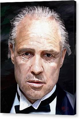 Marlon Brando Canvas Print by James Shepherd