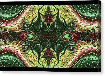Marooned Symmetrical Abstract Canvas Print by Sharon and Renee Lozen