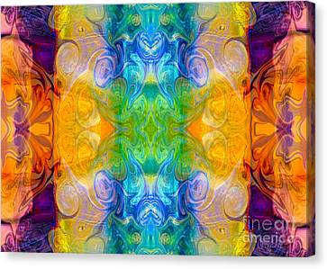 Marrying A Rainbow Abstract Bliss Art By Omashte Canvas Print by Omaste Witkowski