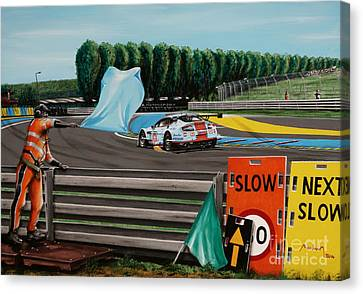 Marshall In Tertre Rouge Canvas Print by Alain Baudouin