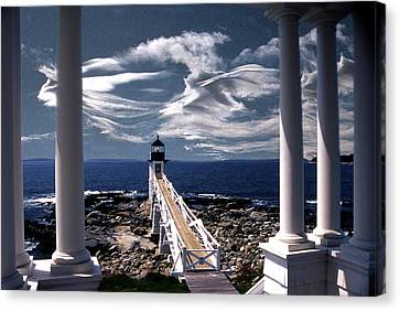 Marshall Point Lighthouse Maine Canvas Print by Skip Willits