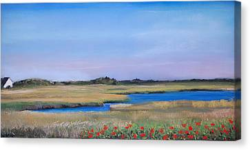 Marshside Canvas Print by Cindy Plutnicki