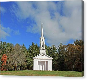 Martha Mary Chapel In Sudbury Ma Canvas Print by Michael Saunders
