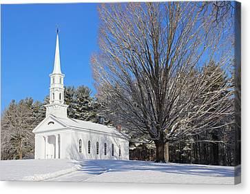 Martha Mary Chapel In Winter Canvas Print by Sue Feldberg