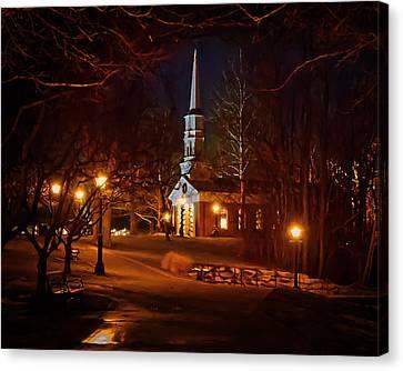 Martha Mary Chapel Canvas Print by Susan Rissi Tregoning