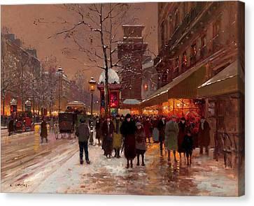 Martin Canvas Print by Edouard Cortes