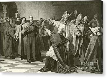 Martin Luther Before The Council Of Worms  Canvas Print by English School