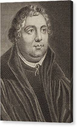 Martin Luther Canvas Print by English School