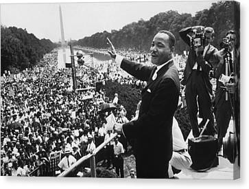 Martin Luther King Canvas Print by American School